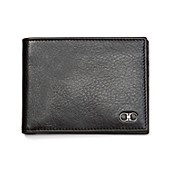 Salvatore Ferragamo Shiny Grained Leather Slim Bi-Fold Wallet