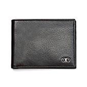 Salvatore Ferragamo Shiny Grained Leather Slim Bi-Fold Wallet