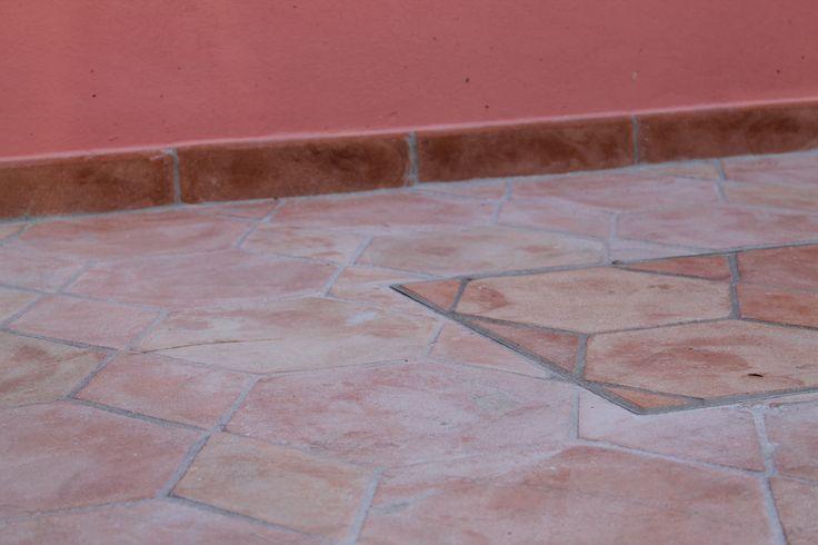 Hexagon floor and rhombus floor #floor #hexagon #rhombus