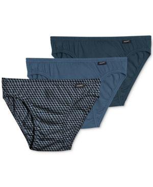Jockey Men's Underwear, Elance Bikini 3-Pack - Blue XL