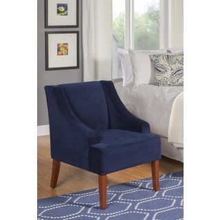 153$   Shop for HomePop Ink Navy Swoop Arm Velvet Accent Chair. Get free shipping at Overstock.com - Your Online Furniture Outlet Store! Get 5% in rewards with Club O! - 16914084