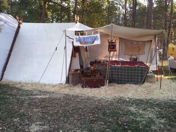 The day before - tent and area all set up, ready add stock early Saturday morning.