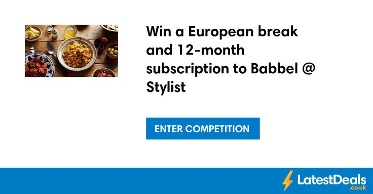 Win a European break and 12-month subscription to Babbel @ Stylist