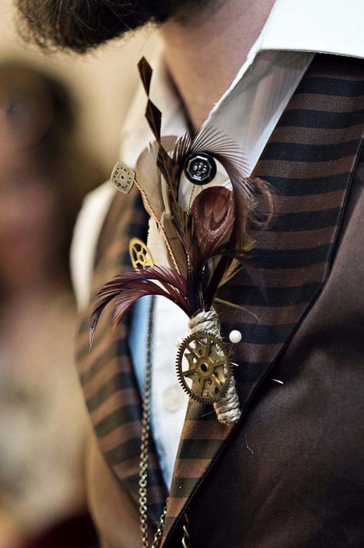 theatrical steampunk wedding as seen on @offbeatbride #steampunk #weddings