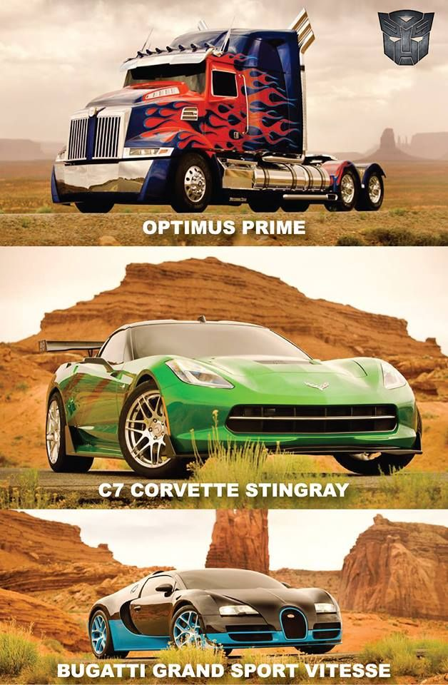 "Transformers 4 The Bugatti is the autobot ""Drift"" The corvette stingray is ""cross hairs"""