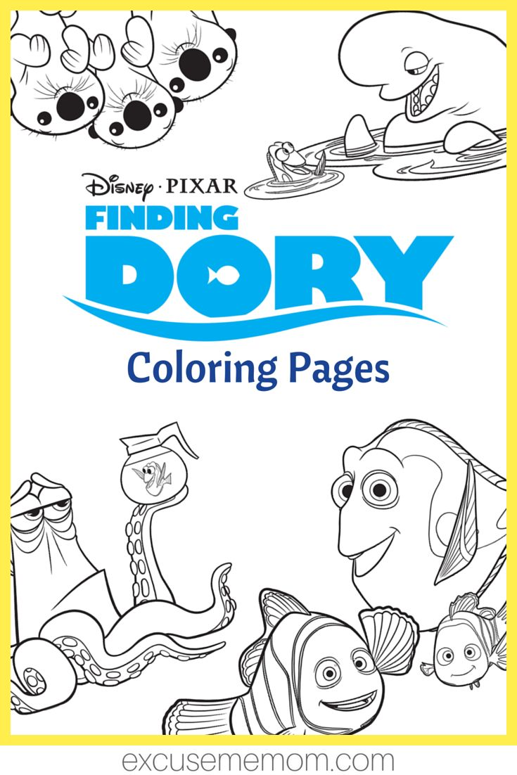 Finding dory coloring pages u printable activities finding dory