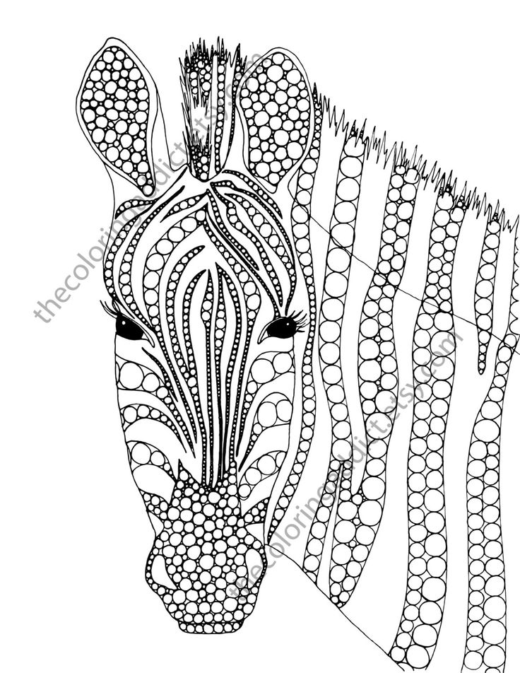 Zebra Coloring Page Animal By TheColoringAddict