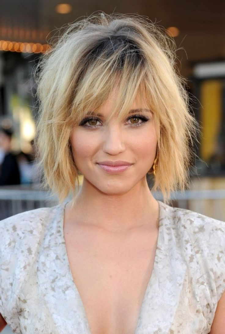Long inverted bob with layers