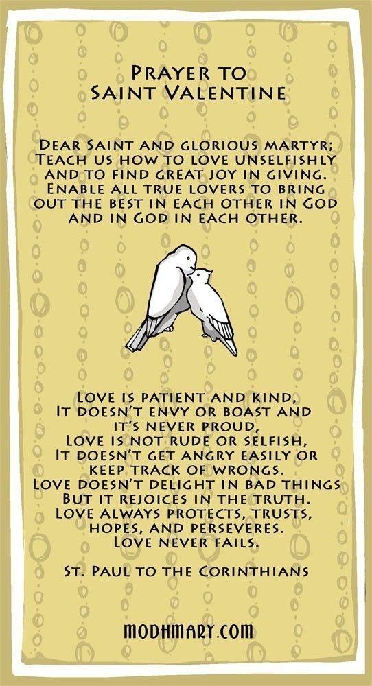 St Valentine Prayer Card Buy One Get One FREE par ModHMary sur Etsy