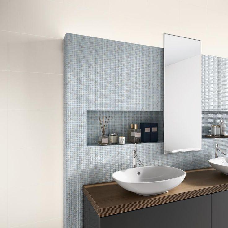 Porcelanato Biancogres  Revestimento para Banheiro  REVESTIMENTO  Pinterest -> Banheiro Pequeno Spa