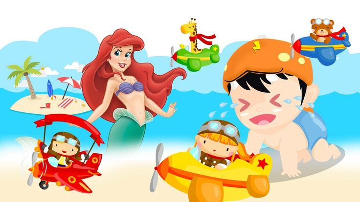 BoBoiBoy Baby Crying and Learn Colors-Colorful Airplane Barbie Mermaid F...