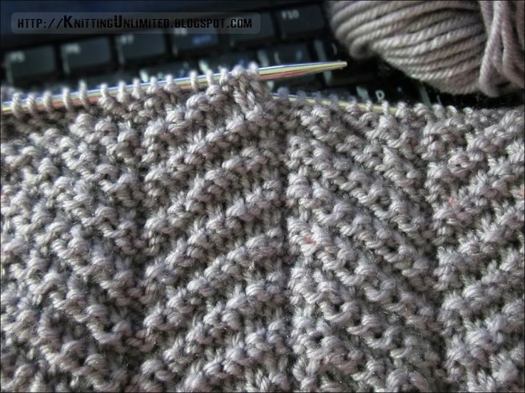 Knit - Purl Combinations: Herringbone Texture How to for any size Good stitch for men's scarves or cushion covers