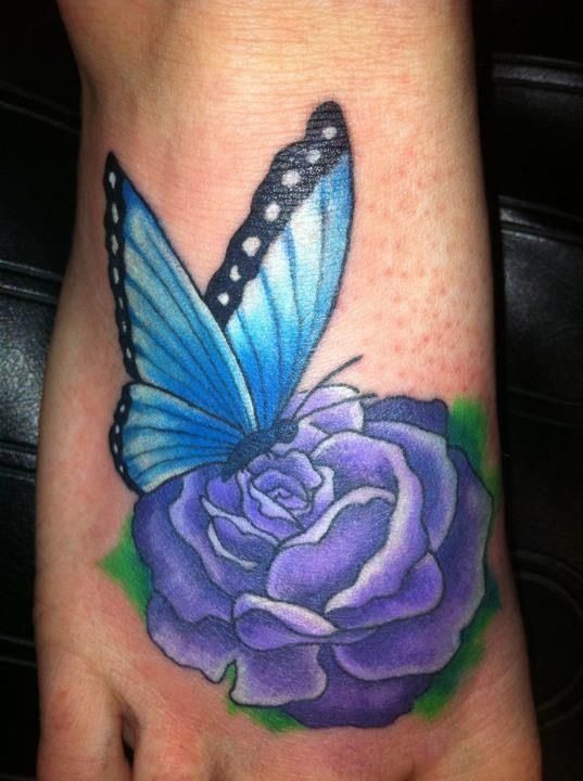 Download image Purple Rose And Butterfly Tattoos PC Android iPhone ...