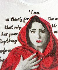 Anais Nin T-shirt Painted Literary Tshirt Wearable Art
