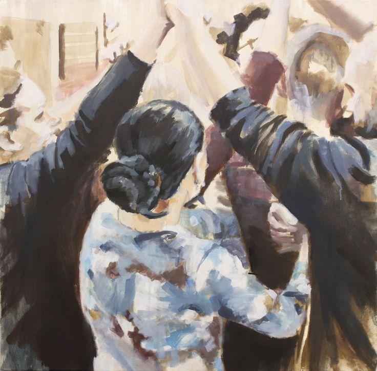 original painting Lilit, oil on canvas 60x60cm by Ruta Matuleviciute