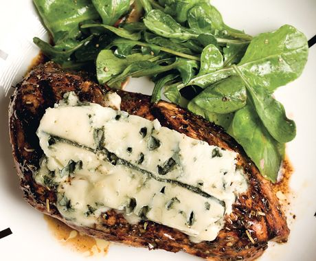 Herbed Balsamic Chicken with Blue Cheese | Epicurious.com