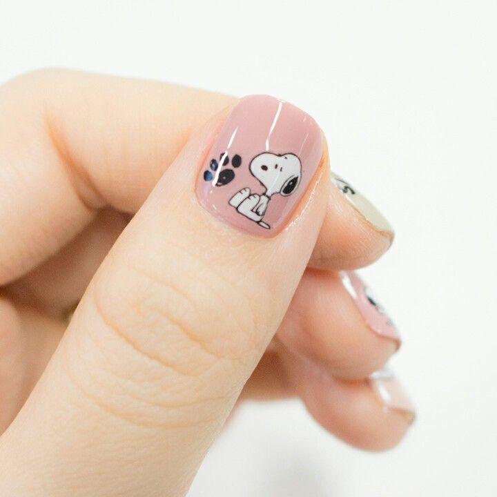 Snoopy  nail ♡                                                                                                                                                                                 More