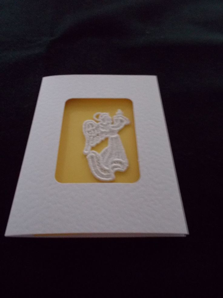 Greetings card with lace angel by ItstheGirlthing on Etsy