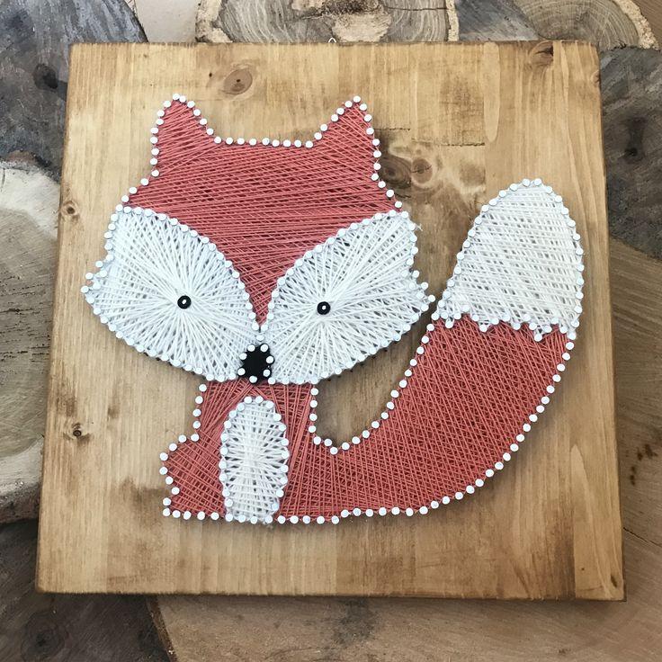 String art fox (fb: Atelierul lui Ghidus)