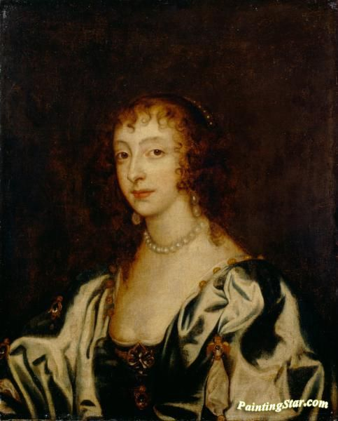 Queen henrietta maria ii Artwork by Anthony van Dyck Hand-painted and Art Prints on canvas for sale,you can custom the size and frame