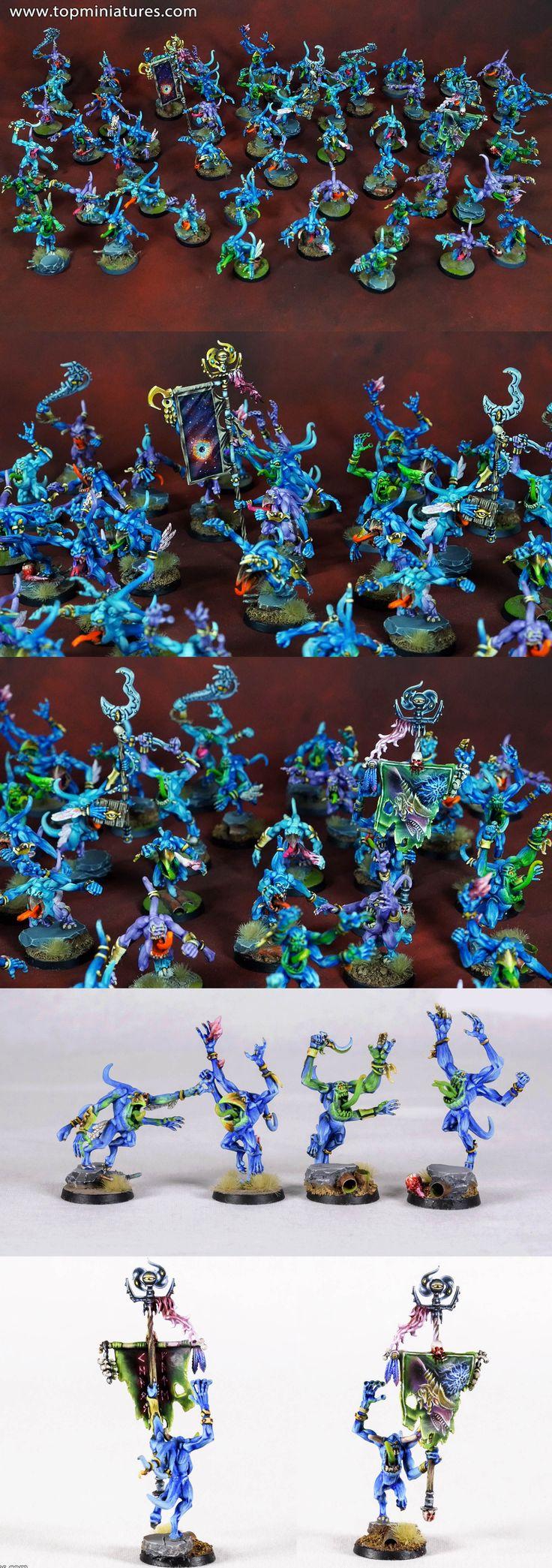 Warhammer 40k chaos daemons pink horrors of tzeentch