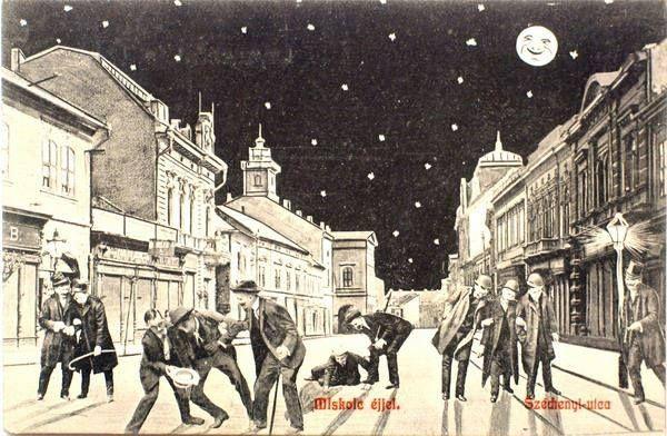 Miskolc éjjel, Széchenyi utca