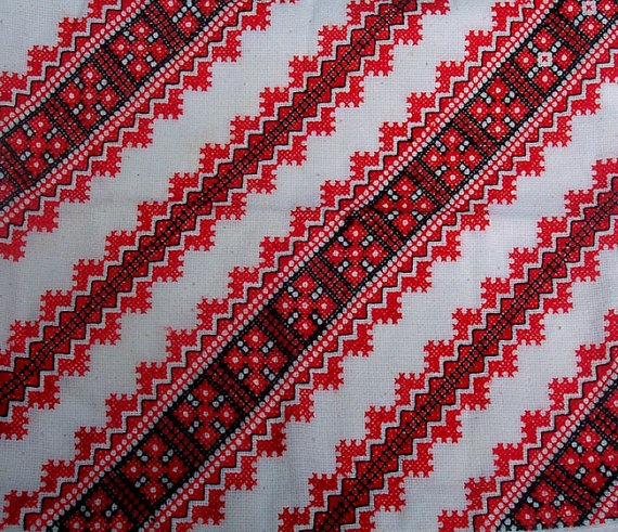 Vintage, Ukrainian Traditional Embroidery, For Pillowcase