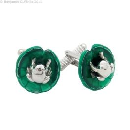 Frog on a Lily Pad Cufflinks