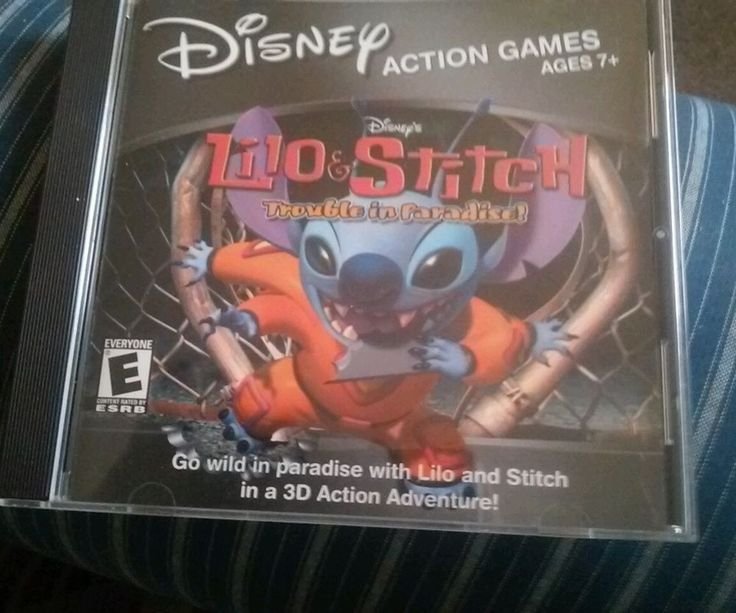 Disney - Lilo & Stitch Trouble in Paradise  PC / CD-ROM Game Educational #Disney
