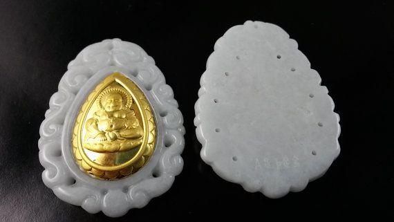 1pcs wholesale jade pendants with 24k gold por acejewellery