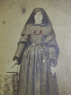 RARE Vintage Antique Civil War Era CDV Photograph NUN Habit Blood Rosary RARE   eBay