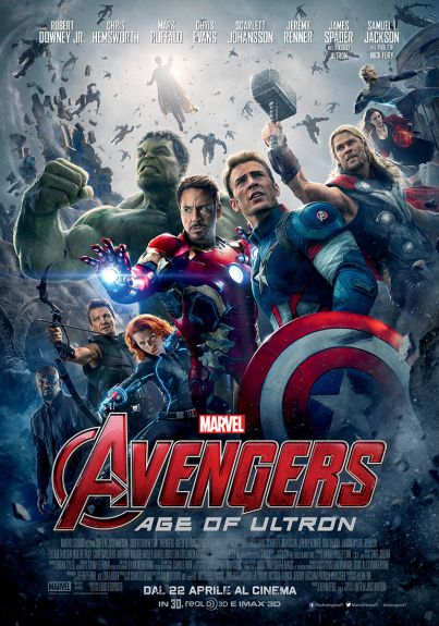 Avengers: Age of Ultron (film) diretto da Joss Whedon con Robert Downey Jr., Scarlett Johansson, Mark Ruffalo, Chris Evans,  Aaron Taylor-Johnson ...  dal 22 aprile al #cinema ... #film  #trailer