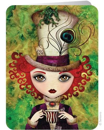 Lady Hatter - Santoro's Eclectic Cards