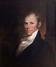 """# Henry Clay # """"Die American Colonization Society (""""Amerikanische Kolonialisierungsgesellschaft"""") war eine politische Gesellschaft in den Vereinigten Staaten, die sich das Ziel gesetzt hatte, einen Teil der in den Staaten lebenden freien Afrikaner nach Afrika zu repatriieren."""""""
