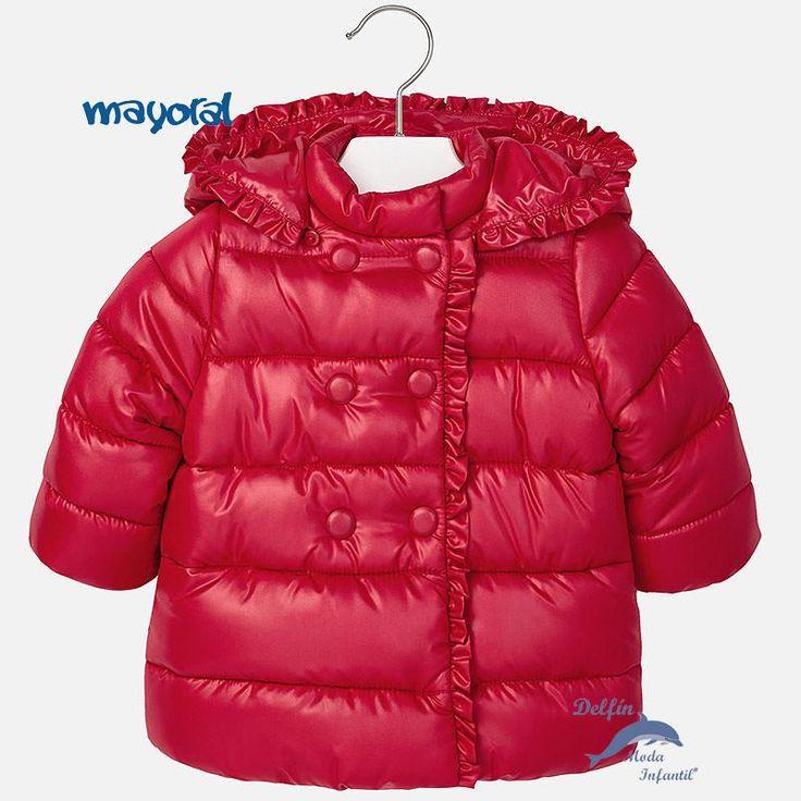 Chaquetón de bebe niña MAYORAL acolchado color rojo