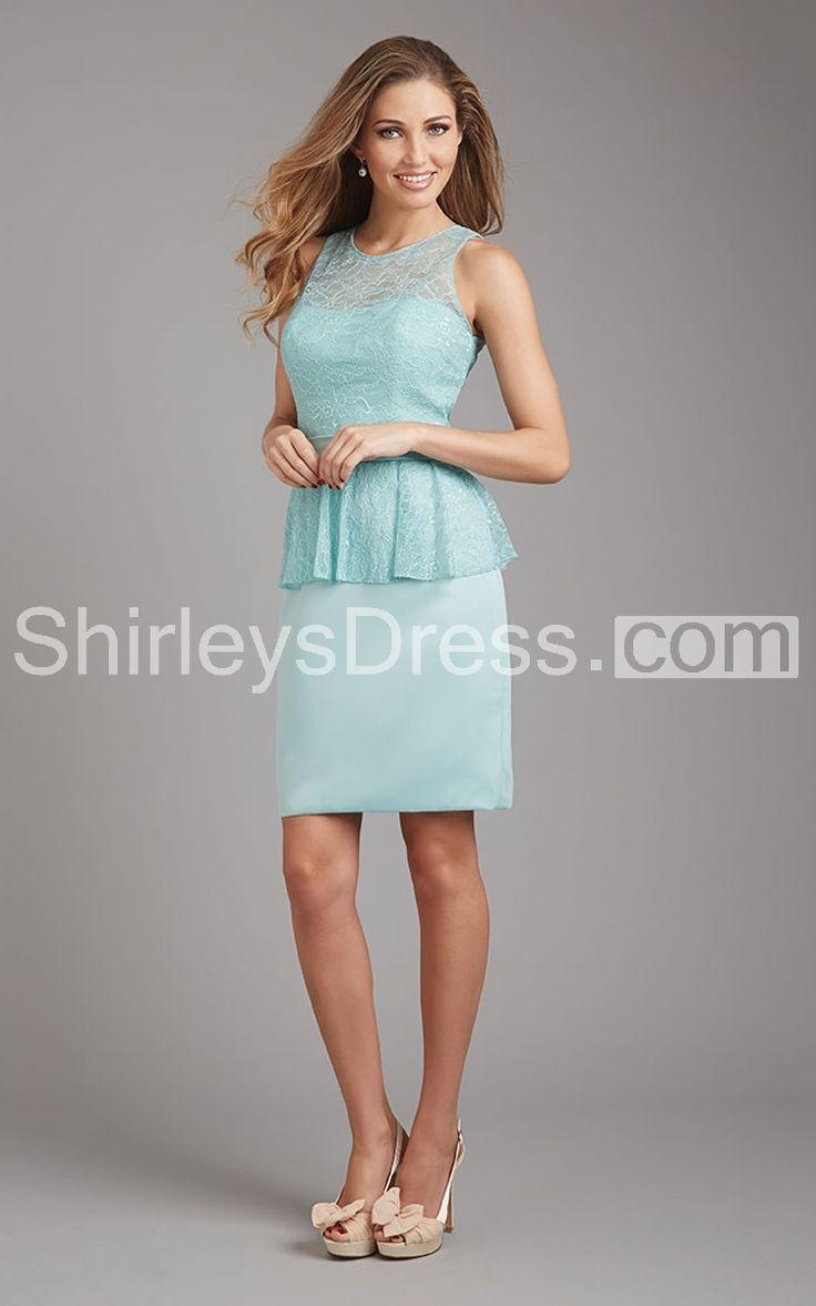 10 best v neck bridesmaid dresses images on pinterest blouses gorgeous peplum lace bodiced waistbanded satin bridesmaid dress ombrellifo Images