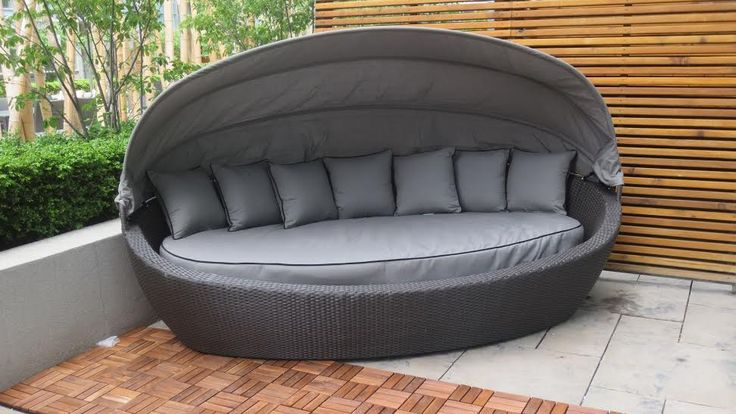 Tao Beach Bed! Unique and eye catching! Comfortable seating for guests or just to relax on. Very comfortable! Easy to clean since Sunbrella fabric is top of the line. Will not fade and will last a life time.