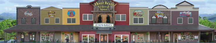 Check out the different shops at 3 Bears Gift Shop located on the Parkway in Pigeon Forge. #shopping #Pigeon #Forge
