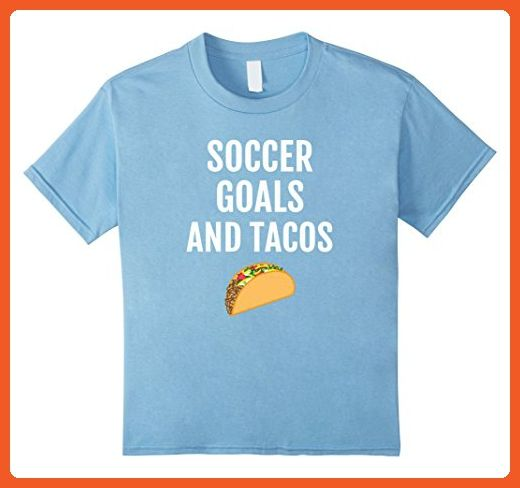 Kids Funny Soccer Tacos T-Shirt - Mexican Taco Tee Shirt Saying 6 Baby Blue - Sports shirts (*Partner-Link)