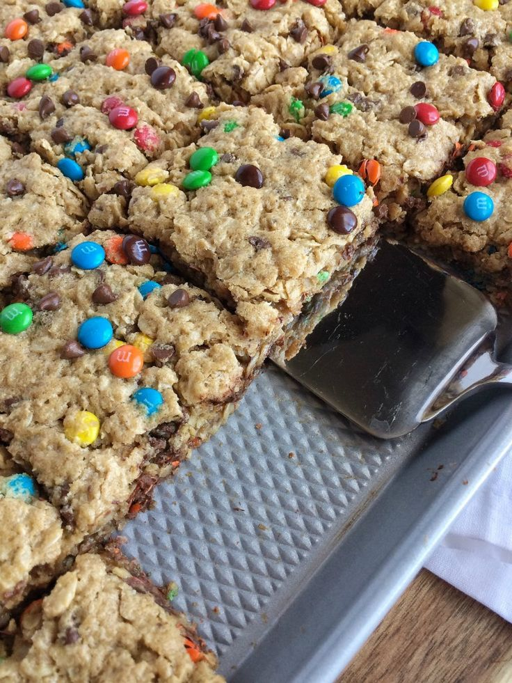 (no flour) Monster Cookie Bars | Together As Family