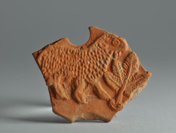 North African red slip oil lamp fragment with animal 1