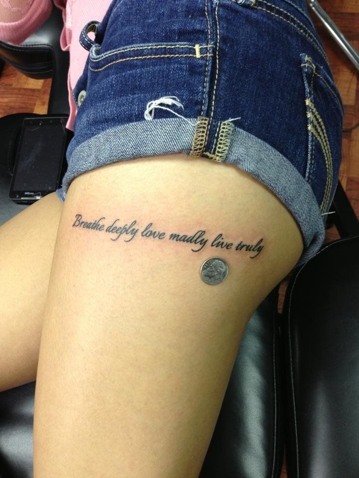 small thigh tattoos - Google Search