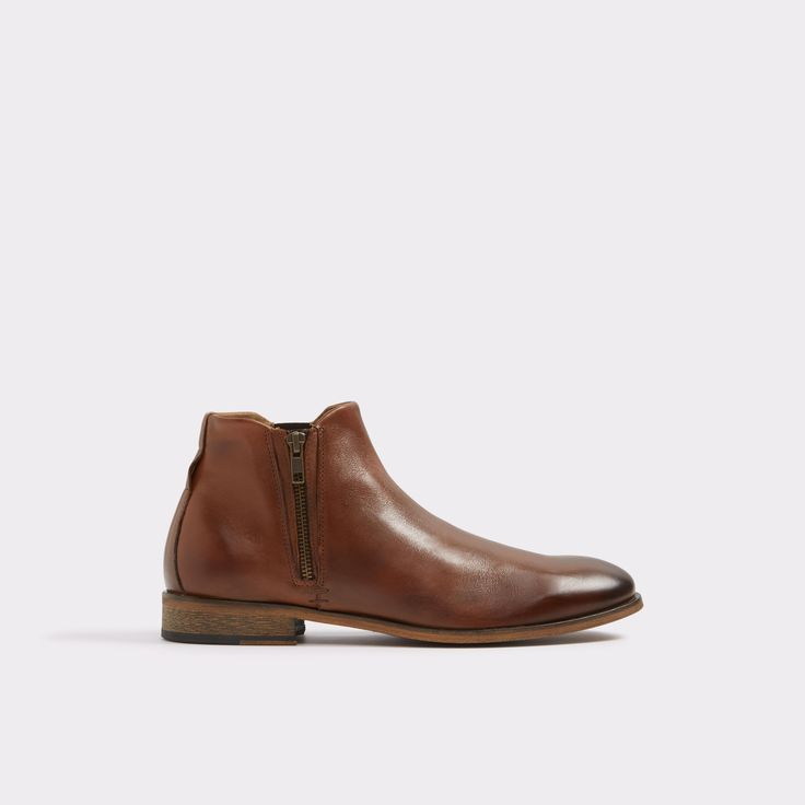 Frake Cognac Men's Dress boots   ALDO US