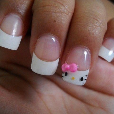 i don't like hello kitty, but i like these nails!
