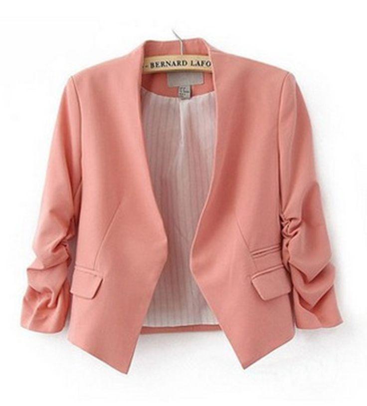 2016 Fashion Basic Jacket Blazer Women Suit Cardigan Puff Sleeve Ladies Autumn Plus Size Brand Coats Casual blaser blazer female