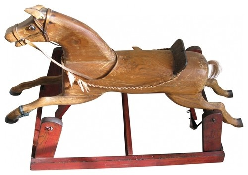 Wood Horse Glider - eclectic - rocking chairs and gliders - new york - Second Shout Out