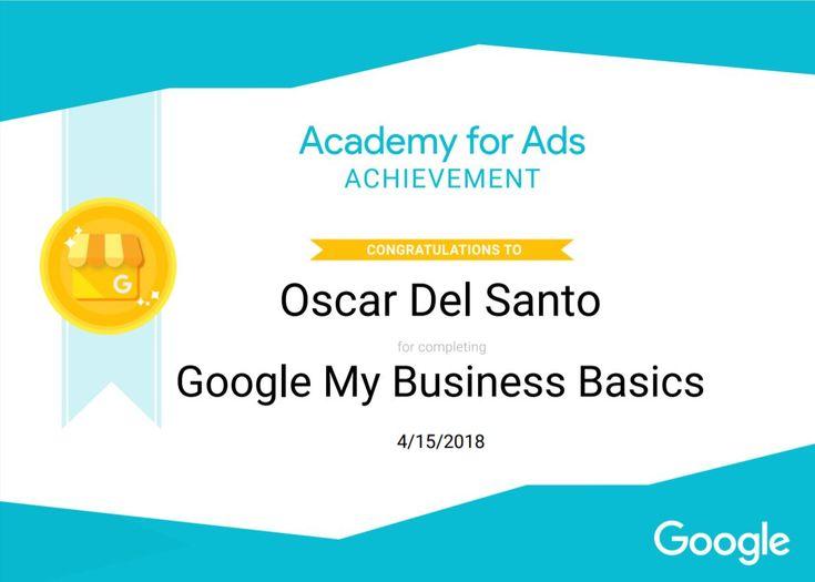 'Google My Business' Basics, 15/4/2018
