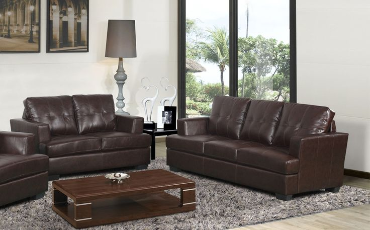 Cecilia Sofa and Loveseat Set Bonded leather Sofa set and Products