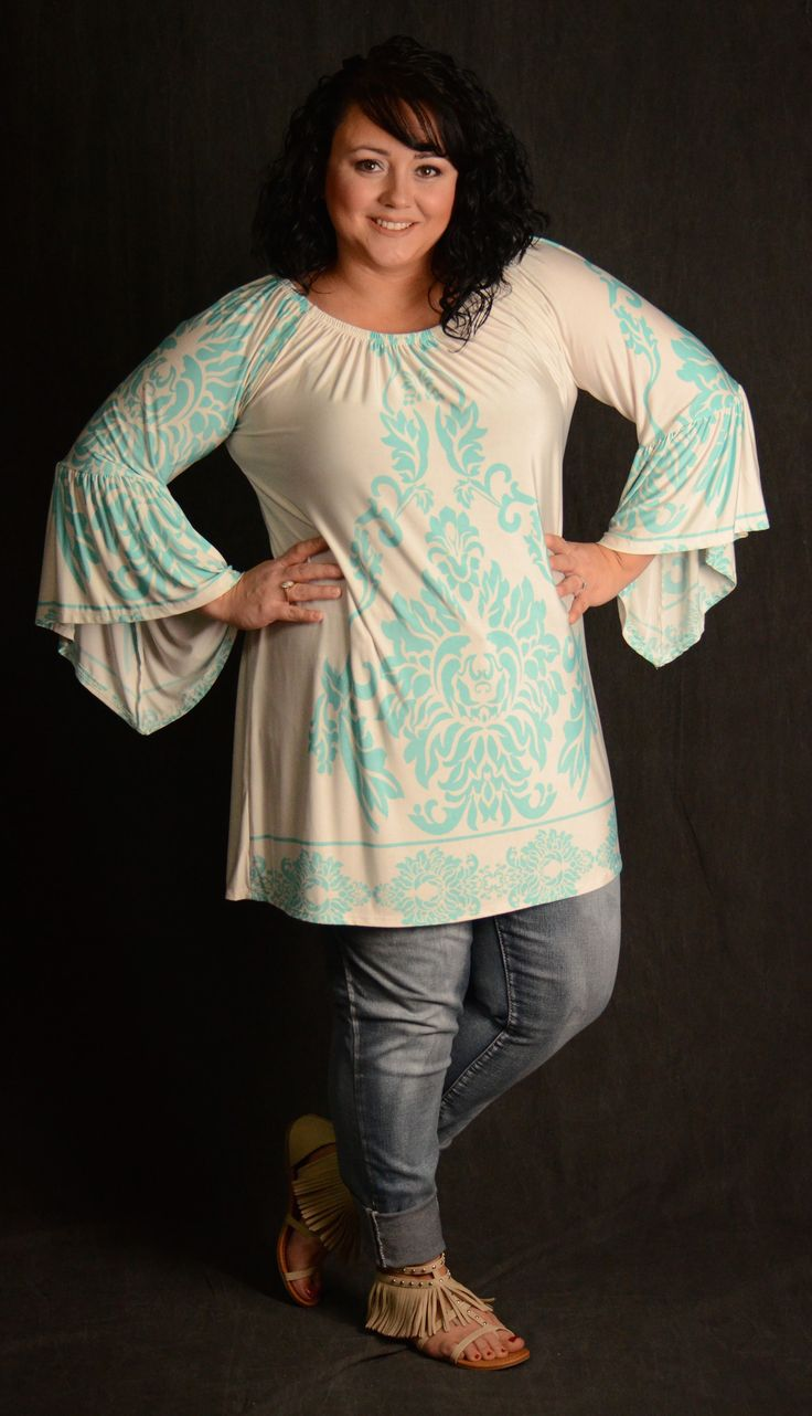 Mint & Ivory Baroque Tunic Top