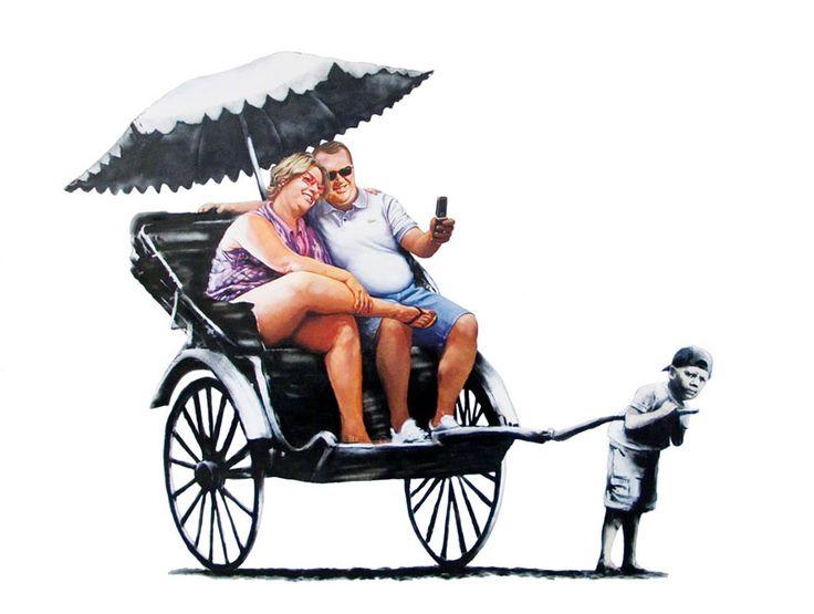 Banksy (street artist): Street Artists, Banksy Art, Art Urbano, Graffiti Streetart, Rickshaw Kids, Bansky, Banksy Street, Streetart Banksy, Gif